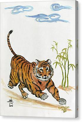 Lucky Tiger Canvas Print