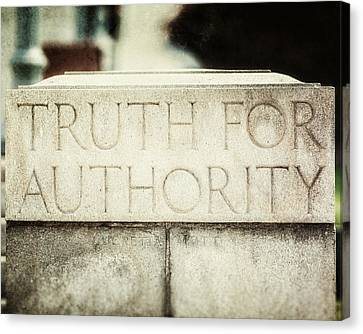 Quaker Canvas Print - Lucretia Mott Truth For Authority by Lisa Russo