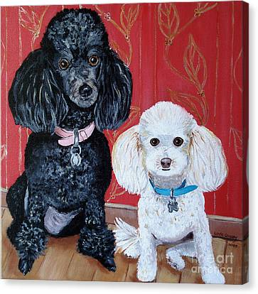 Lucy And Leopold Canvas Print by Linda Queally