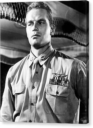 Lucy Gallant, Charlton Heston, 1955 Canvas Print by Everett
