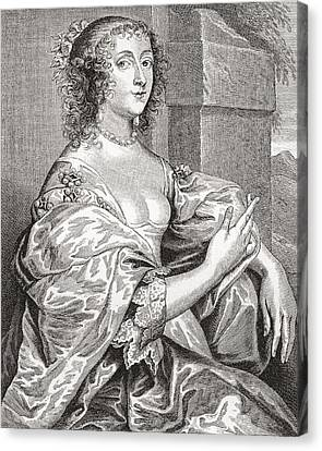 Lucy Hay, Née Percy, Countess Of Carlisle, 1599 –1660.  English Courtier. After The Portrait Canvas Print by Bridgeman Images