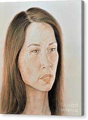 Lucy Liu Natural Beauty Canvas Print