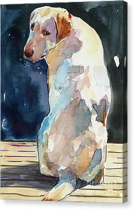 Labrador Retriever Canvas Print - Lucy Moon by Molly Poole