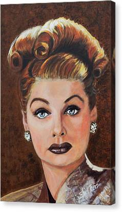 Lucille Ball Canvas Print by Shirl Theis