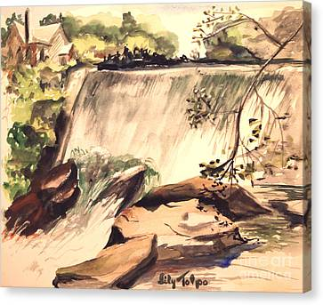 Ludington Michigan Spillway Canvas Print