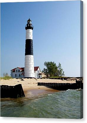 Ludington Michigan's Big Sable Lighthouse Canvas Print by Michelle Calkins