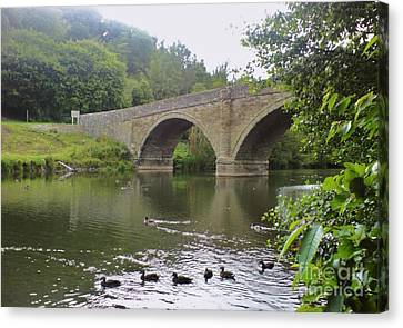 Canvas Print featuring the photograph Ludlow Bridge by John Williams