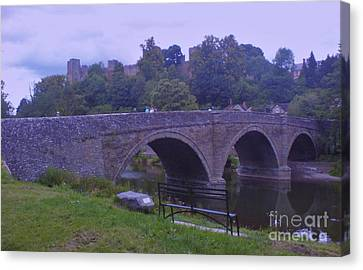 Canvas Print featuring the photograph Ludlow Castle by John Williams
