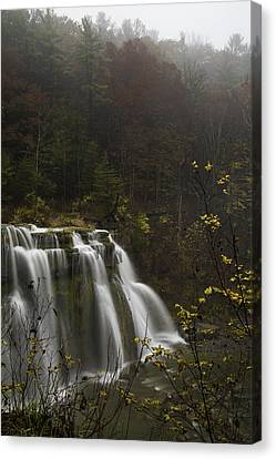 Ludlowville Falls In Autumn I Canvas Print