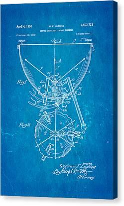 Ludwig Kettle Drum And Timpani Patent Art 1950 Blueprint Canvas Print
