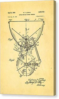 Ludwig Kettle Drum And Timpani Patent Art 1950 Canvas Print by Ian Monk