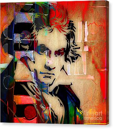 Classical Music Canvas Print - Ludwig Van Beethoven Collection by Marvin Blaine