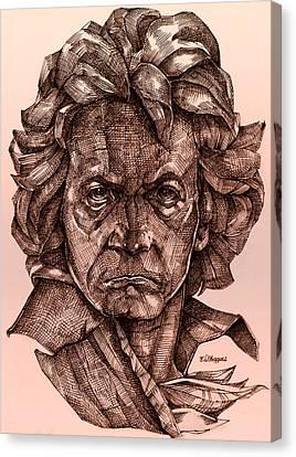 Ludwig Van Beethoven Canvas Print by Derrick Higgins