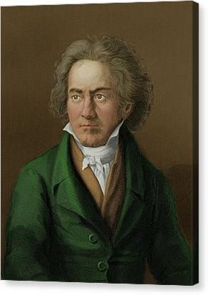 Ludwig Van Beethoven Canvas Print by Maria Platt-evans