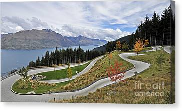 Go Cart Canvas Print - Luge Track by Judith Katz