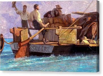 Luggage Boat Canvas Print by F.L.D. Bocion