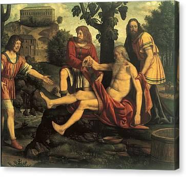 Luini Bernardino, Ham Mocking Noah Canvas Print by Everett