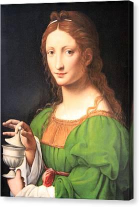 LUINI'S MARY MAGDALEN PORTRAIT ITALIAN MID 1500'S PAINTING ART REAL CANVAS PRINT