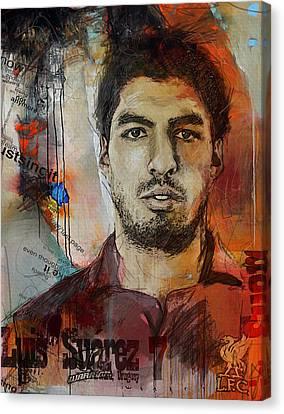 Luis Suarez Canvas Print by Corporate Art Task Force
