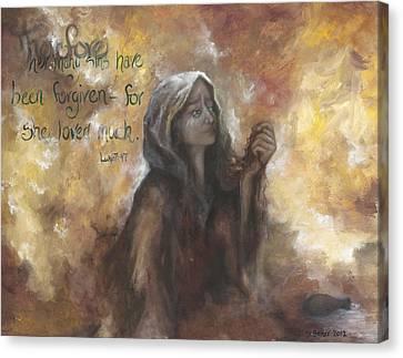 Luke 7 Verse 47 Forgiveness Canvas Print