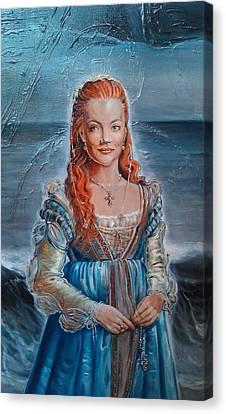 Lukrezia Borgia Canvas Print by Ottilia Zakany