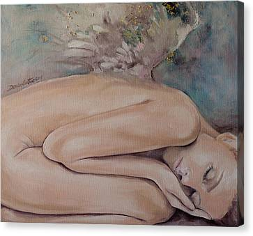Angel Canvas Print - Lullaby by Dorina  Costras