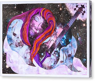 Lullaby In Space Canvas Print by Lisa Moses