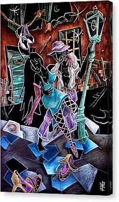 L'ultimo Tango - Artisti Pittori Veneziani Contemporanei Canvas Print by Arte Venezia