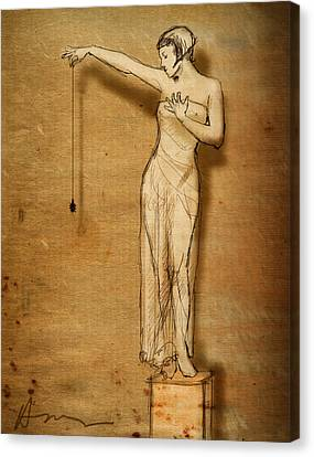 Caryatids Canvas Print - Lulu And The Spider by H James Hoff