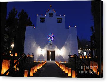 Luminarias At St Francis De Paula Canvas Print