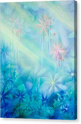Luminous Garden Canvas Print by Michelle Wiarda