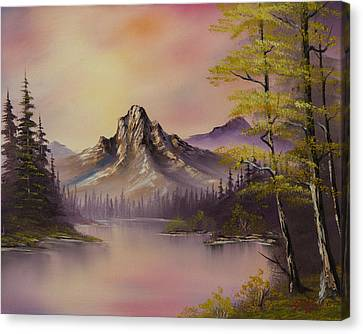 Luminous Lake Canvas Print by C Steele