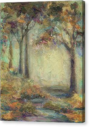 Canvas Print featuring the painting Luminous Landscape by Mary Wolf