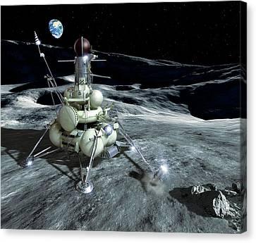 Luna 16 Probe Canvas Print by Detlev Van Ravenswaay