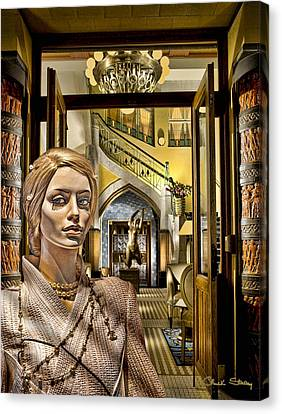 Art Deco Jewelry Canvas Print - Luna At The Prague Hotel by Chuck Staley