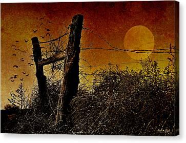 Luna De Sangre Canvas Print by Karen Slagle