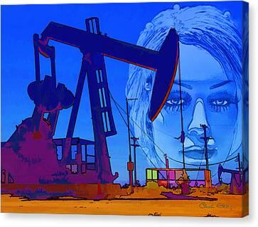 Luna Oil Well Canvas Print