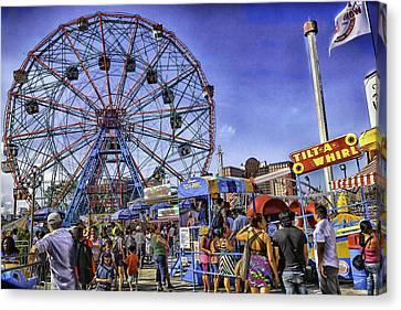 Luna Park 2013 - Coney Island - Brooklyn - New York Canvas Print by Madeline Ellis