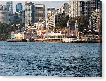 Luna Park On Milsons Point, Sydney, New Canvas Print by Panoramic Images