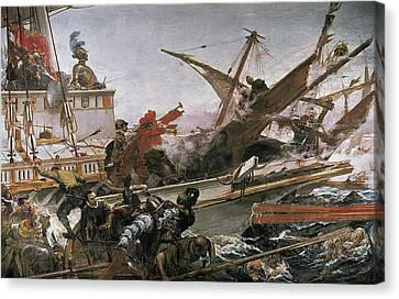 Luna Y Novicio, Juan 1857-1899. Naval Canvas Print by Everett