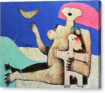 Lunam No. 6 Canvas Print by Mark M  Mellon