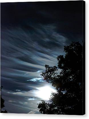 Lunar Art Canvas Print by Optical Playground By MP Ray