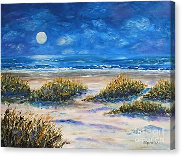 Lunar Beach Canvas Print