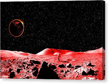 Lunar Eclipse As Seen From The Moon Canvas Print