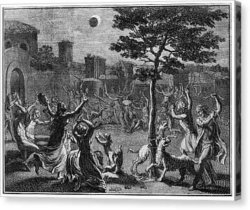 Lunar Eclipse Canvas Print by Cci Archives