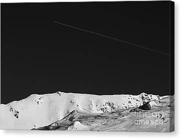 Canvas Print featuring the photograph Lunar Landscape by Simona Ghidini