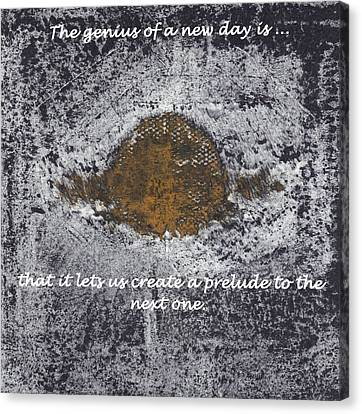 Canvas Print featuring the digital art Lunar Sun by Lesley Fletcher