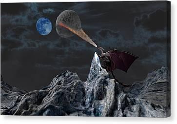 Lunar Warming Canvas Print by Brainwave Pictures