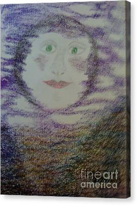 Luna's Smile Canvas Print by Yve Hockenbury Moore