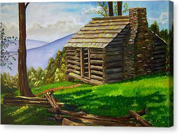 Lunch At An Old Cabin In The Blue Ridge Canvas Print